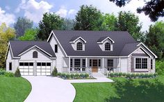 House Plan 77064 | Ranch   Traditional    Plan with 1944 Sq. Ft., 4 Bedrooms, 2 Bathrooms, 2 Car Garage