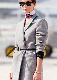 Le foulard : toujours pendu à votre cou : Avec un manteau en laine