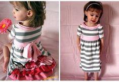Vestidos para niña reciclando camisetas Summer Dresses, Jeans, Pattern, Christmas, Mary, Fashion, Hair, Scrappy Quilts, Tela