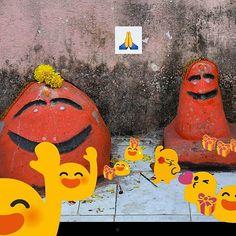 THE NEW GODS #emoji #god #pooja #india #ladypat #iphonebyephone #emoticon #smile