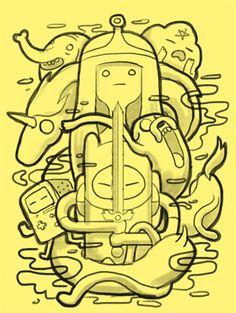 Adventure Time by Angga Tantama,