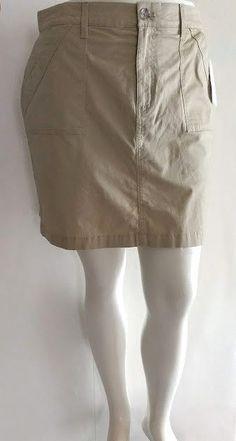f0721d0ebf NEW Classic Skort Khaki Tan size 14 Large Stretch Skirt w/ Shorts Croft &  Barrow