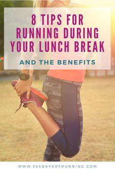 8 Tips for running during your lunch break and the benefits Many runners find a run during their lunch break gives them energy for the rest of the afternoon to work Running Routine, Running Plan, Group Fitness, Health And Fitness Tips, Women's Fitness, Race Training, Training Tips, How To Get Muscles, Running Tips Beginner