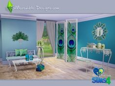 The Sims Resource: We love Peacock • Sims 4 Downloads