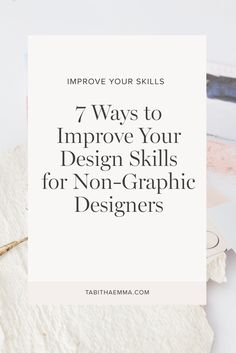 Creative business owners can design their own graphics with confidence. Learn 7 simple ways to improve your design skills and create beautiful graphics. Learn and be inspired and improve your knowledge and skill. Create A Brand Logo, Creating A Brand, Business Launch, Business Tips, Instagram Accounts To Follow, Brand Strategist, Principles Of Design, Career Advice, Book Design
