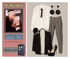 """""""The First Doctor - Doctor Who"""" by chelsealauren10 ❤ liked on Polyvore featuring Jigsaw, ASOS, River Island, Chinese Laundry, Roberta Chiarella, blazers, classic who, the first doctor, the doctor and doctor who"""