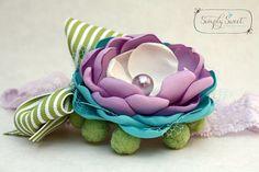 Lavender Fields Headband by joellegfritz on Etsy