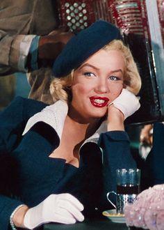 """Marilyn Monroe, """"Gentlemen Prefer Blondes"""", 1953."""
