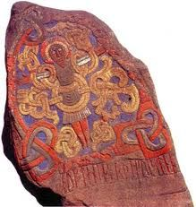 This is remarkable, I love seeing really old Viking carvings it really fascinates me. Art Viking, Viking Life, Viking Symbols, Viking Runes, Norse Pagan, Norse Mythology, Art Scandinave, Collections D'objets, Germanic Tribes