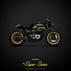 Super Seven CB750 cafe racer
