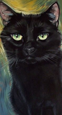 The Black Cat Paintings of Diane Irvine Armitage