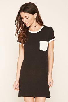 Pocket Ringer T-Shirt Dress | Forever 21 - 2000220212