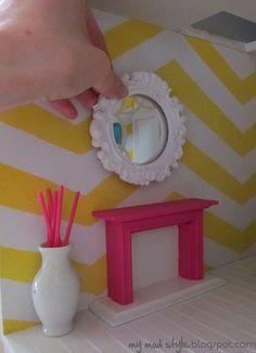 Dollhouse Living Room - Dec 2011 by Jessie {my mod style}, via Flickr
