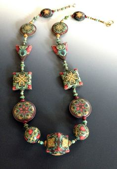 Sarah Shriver : Creative Loafing Tampa | Image Archives | In Living Color Polymer Clay Creations, Polymer Clay Beads, Tela Shabby Chic, Play Clay, Clay Projects, Handcrafted Jewelry, Arts And Crafts, Jewelry Making, Pendants