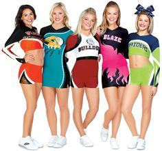 Chassé spokesmodels Maddie Gardner and Elle Smith, and Superstars of All Stars Jennifer Burke, Taylor Minchew, and Dee Temples looking amazing in their Sublimation Uniforms.
