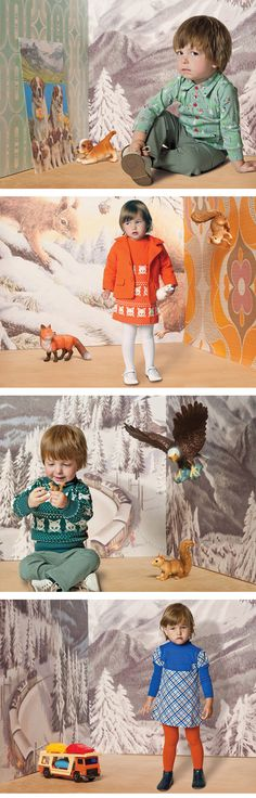 Children's fashion by Kiekeboe. Winter Collection 2011. Cute shoot!