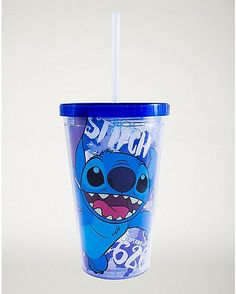Stitch Cup With Straw and Ice Cubes 16 oz - Disney - Spencer& Best Friend Gifts, Gifts For Friends, Lelo And Stich, Cute Stitch, Lilo Stitch, Bff Birthday, Birthday Wishlist, Blue Punch, Baby Gallery
