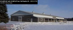 81'x200'x16' with 12'x88'x10' lean | Cleary Horse Barn in Dell Rapids, SD | Colors: Sierra, Snow,