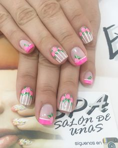 Flower Nails, My Nails, Diy And Crafts, Manicure, Nail Designs, Lily, Nail Art, Makeup, Beauty