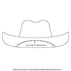 how to make a 3d cowboy hat out of paper