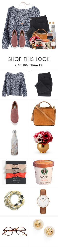 """Starting to finally get cool here:)"" by flroasburn ❤ liked on Polyvore featuring MTWTFSS Weekday, Steve Madden, Mark Cross, S'well, J.Crew, Daniel Wellington, Retrò, Tory Burch and Kendra Scott"