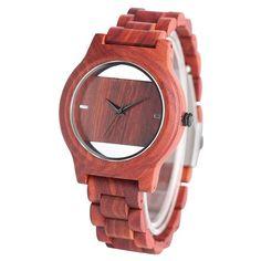 Click visit to buy Den Ideas, Wooden Watch, Quartz Watch, Watches For Men, Bamboo, Luxury, Bracelets, Stuff To Buy, Handmade