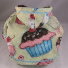 Maltese Cupcake Dog Fleece Hoodies. $42.95, via Etsy.