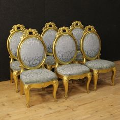 2100€ Group of six Italian gilt chairs with floral fabric. Visit our website www.parino.it #antiques #antiquariato #furniture #chair #antiquities #antiquario #lacquered #sedia #decorative #interiordesign #homedecoration #antiqueshop #antiquestore