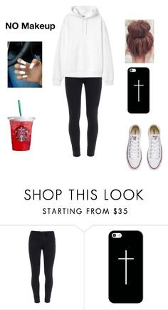 """""""Lazy day out outfit 👍👌✌"""" by aysiastyle ❤ liked on Polyvore featuring Paige Denim, Casetify and Converse"""