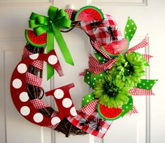 Ants on a Picnic Wreath by DanaCarolDesigns on Etsy, $55.00