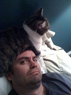 ok now there is a cat on my head by AndersP, via Flickr