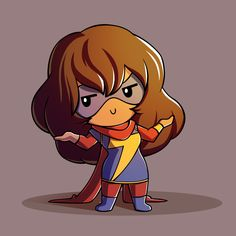 Another adorkable hero that I cherish with all my heart, Miss Marvel aka Kamala Khan. She's so chill and lax