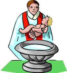 here is a cartoon of a family whose child is receiving the sacrament rh pinterest com Precious Moments Baptism Clip Art Baptism Borders Clip Art