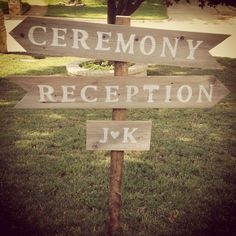 Rustic Wedding Sign!