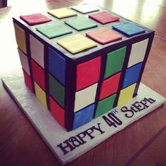 Rubics cube cake, www.wbcustomcakes.com