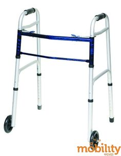 PMI - Professional Medical Imports - 1075P - Folding Walker w/5  Wheels Adult--(ProBasic)