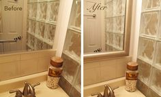 A tiny Brooklyn bathroom gets a medicine cabinet makeover and covers de-silvering in minutes. #bathroom #brooklyn # DIY #design #bathroomremodel