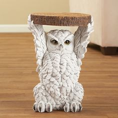 ✿【Versatile】You can use this Mosaic table both indoor and outdoor as a independent plant stand. It looks great for living room, entrance, patio or garden. Discount Home Decor, Collections Etc, Feather Painting, Classic Home Decor, Animal Decor, Cute Owl, Statue, Forest Animals, Decoration