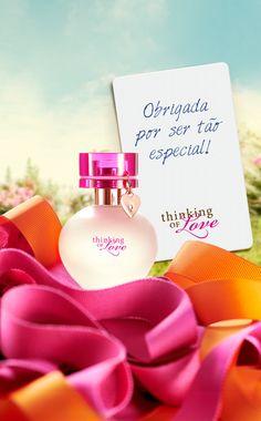 Para presentear quem você ama da meneira mais fofa possível,  a fragrância Thinking of Love! <3  #NotesToRemember