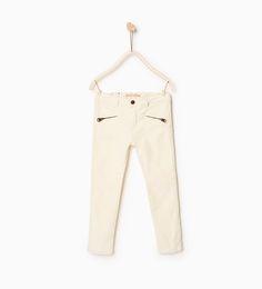 Velvet broek met ritsjes - In meer kleuren beschikbaar