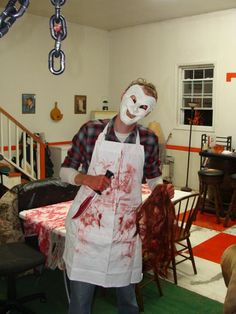 The Butcher Costume with Mask & Adult Bloody Butcher Costume | Costumes u0026 Makeup | Pinterest ...