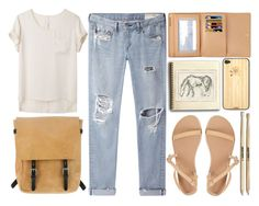 """Без названия #66"" by lyubetska ❤ liked on Polyvore featuring rag & bone/JEAN, rag & bone, Ancient Greek Sandals, Ally Capellino, Louis Vuitton and Toast"