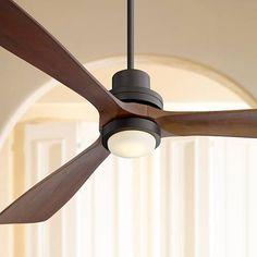 """66"""" Casa Delta-Wing XL™ Bronze LED Ceiling Fan"""