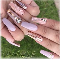 Fancy Nail Art, Fancy Nails, Nail Art Diy, Pretty Nails, Pink Acrylic Nail Designs, Pink Acrylic Nails, Nail Art Designs, Sexy Nails, Nude Nails
