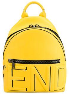 Fendi sac à dos à logo embossé 2150 EUR. Fendi yellow leather backpack. 7 June 2016 on sale at Farfetch was $2850, now $1710.