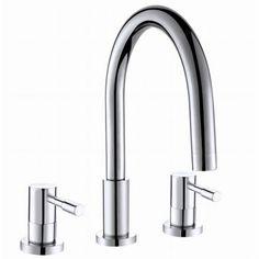 dual handle long neck bathroom Faucet
