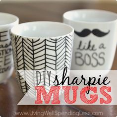 """For the past year or two I've been seeing these Sharpie mugs all over Pinterest. And every time I see them, I think, """"those are so cute. I should totally try that! They look SO easy!"""" But then I started noticing a lot of comments on those Sharpie mug photos, most of them complaining that …"""