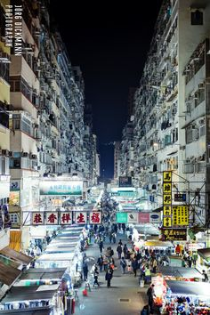Fa Yuen Street Market, Mong Kok, Hong Kong by Jörg Dickmann Hong Kong Night, Kowloon Walled City, Shanghai, China Hong Kong, Vietnam, World Cities, Night Life, Places To Visit, Around The Worlds