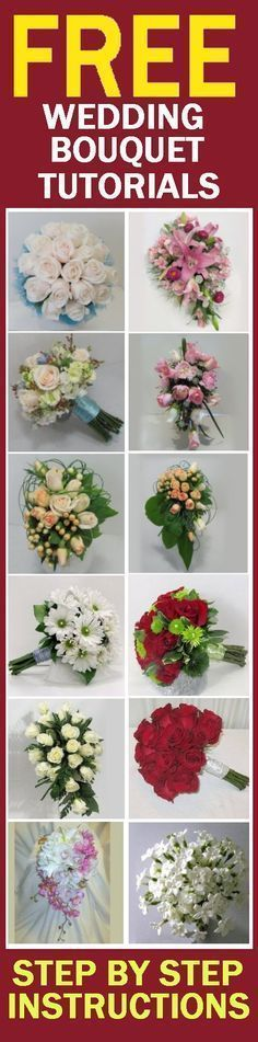How to Make Wedding Bouquets - Easy Wedding Tutorials  Learn how to make bridal bouquets, wedding corsages, groom boutonnieres, church decorations and reception centerpieces.