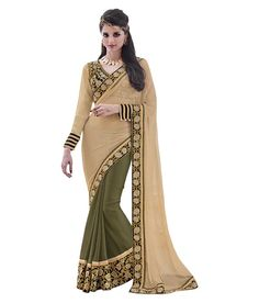 Naksh - Naksh Creation Embriodered Fashion Lycra Sari